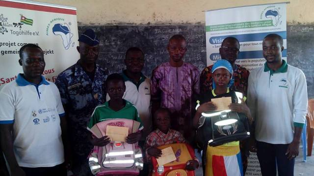 Timbou 698 km from Lome : Official launch of the project 'VILLAGES of AIMES – Africa'